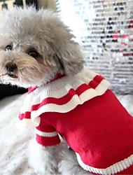 Недорогие -Собака Свитера Одежда для собак Бант Красный Синий Чинлон Костюм Назначение Весна & осень Зима На каждый день