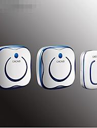 Недорогие -умный дом беспроводной дверной звонок переменного тока цифровой водонепроницаемый музыка дверной звонок пульт дистанционного управления дверной звонок один на два звонка