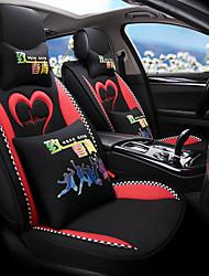 Недорогие -мультфильм богиня подушка автомобиля все включено мило льняная мода четыре сезона ткань ins чистая красная подушка автомобиля крышка автомобиля