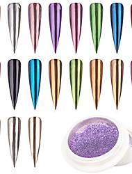 billige -1 pcs Bedste kvalitet Glitter Glitter Til Fingernegl Mode Negle kunst Manicure Pedicure Daglig / Festival Stilfuld / Farverig