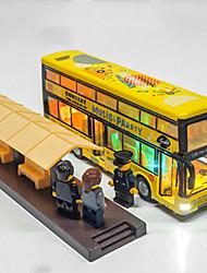 Недорогие -Игрушечные машинки Грузовик Автобус Классический Музыка и свет Классика Универсальные Игрушки Подарок