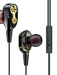 voordelige -litbest dubbele eenheid aandrijving oortelefoon met volumeregeling subwoofer gaming headsets sport oordopjes koptelefoon