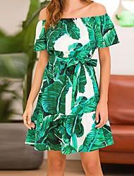 Χαμηλού Κόστους -Γυναικεία Βασικό Θήκη Φόρεμα - Γεωμετρικό Μίνι