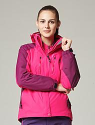 Недорогие -DZRZVD® Жен. Куртки 3-в-1 Куртка для туризма и прогулок на открытом воздухе Зима Водонепроницаемость Теплый Съемный капюшон Съемный руно Куртки 3-в-1 Двухсторонняя