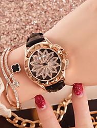 Недорогие -Жен. Нарядные часы Японский кварц Кожа Защита от влаги Аналоговый Классика - Черный Лиловый Красный / Нержавеющая сталь