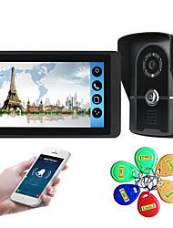 olcso -618fgid11 7 hüvelykes kapacitív érintőképernyős videokamera vezetékes videó ajtócsengő wifi / 3g / 4g távoli hívás feloldása tároló vizuális intercom külső gép azonosítója funkció egy-egy
