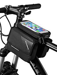 Недорогие -ROCKBROS Сотовый телефон сумка Бардачок на раму 6 дюймовый Сенсорный экран Светоотражающий логотип Водоотталкивающая Велоспорт для iPhone X iPhone XR iPhone XS Черный Горный велосипед Велоспорт