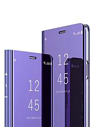 رخيصةأون -غطاء من أجل Huawei هواوي P30 / Huawei P30 Pro مرآة / قلب غطاء كامل للجسم لون سادة قاسي الكمبيوتر الشخصي إلى هواوي P30 / Huawei P30 Pro / Huawei Mate 20 pro