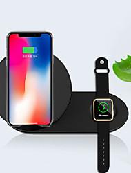 Недорогие -2 в 1 портативный ультратонкий безопасный стенд беспроводное зарядное устройство быстрая зарядка для мобильного телефона часы