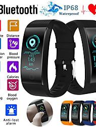 Недорогие -QW18 умный браслет монитор сердечного ритма ip68 водонепроницаемый цветной экран фитнес-трекер группа часы спорт на открытом воздухе браслет