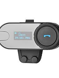 Недорогие -800 м Bluetooth-гарнитура Bluetooth-гарнитура Интерком-гарнитура с ЖК-экраном FM-радио