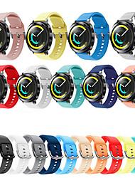 Недорогие -Спорт силиконовый ремешок для часов ремешок браслет браслет для Samsung передач Спорт / Gear S4 Smart Watch