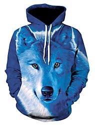 Недорогие -Муж. Классический толстовка с капюшоном куртки - 3D / Животное Капюшон