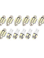 Недорогие -12шт светодиодные фонари белый интерьер купольная карта лампы комплект для Nissan Верса 2007-2011 (5xt10-5-50507x31mm-12-3528)