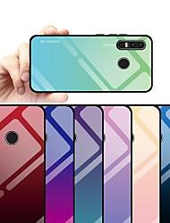 billige -Etui Til Huawei Huawei P30 Lite Støtsikker / Støvtett / Vannavvisende Bakdeksel Fargegradering Hard TPU / Herdet glass