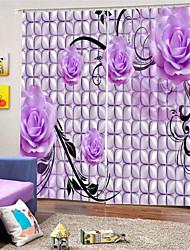 Недорогие -3d цифровая печать неоклассическая конфиденциальность две панели занавес для ванной комнаты декоративные шторы