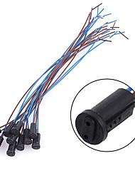 Недорогие -10 шт. / Пакет g4 патрон лампы проводной разъем кабеля 20 см светодиодные лампы разъем фитинг аксессуар для g4 потолочный светильник / галогенная лампа