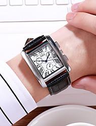 Недорогие -Муж. Нарядные часы Кварцевый Черный / Синий / Зеленый 30 m Новый дизайн Повседневные часы Аналоговый На каждый день Мода - Черный Коричневый Один год Срок службы батареи