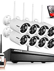 Недорогие -Аннки WiFi система 8-канальный 8шт 720p камеры видеонаблюдения в помещении / на открытом воздухе ночного видения с жестким диском 1 ТБ