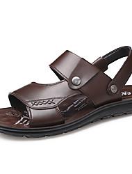 Negro Sandalias Napa Zapatos De Hombre Confort Cuero Marrón Verano WH29EDYI