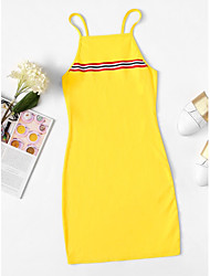 Χαμηλού Κόστους -γυναικείος ιμάντας φόρεμα άνω γόνατο γυναικών λευκό μαύρο κίτρινο s m l xl