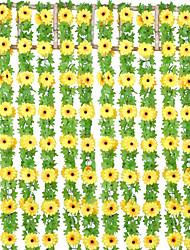 Недорогие -Искусственные Цветы 1 Филиал Классический С креплением на стену Сценический реквизит Простой стиль Подсолнухи Вечные цветы Цветы на стену