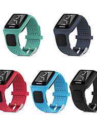 Недорогие -силиконовый квадратный ремешок для часов браслет ремешок замена для TomTOM Multi-Sport / Tom Tom бегун GPS спортивные часы 1 серия ремешок для часов