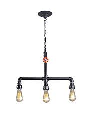Недорогие -винтажные промышленные трубы подвесные светильники креативный ресторан кафе бар люстра с 3 светло окрашенной отделкой