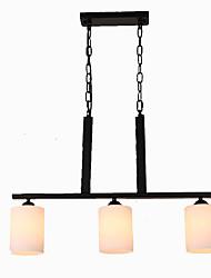 baratos -3-luz Ilha / Industrial Lustres Luz Descendente Acabamentos Pintados Metal Vidro Fosco, Criativo, Ajustável 110-120V / 220-240V
