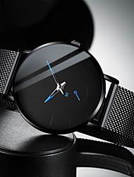 Недорогие -Муж. Нарядные часы Кварцевый Современный Стильные Нержавеющая сталь Черный / Серебристый металл 30 m Защита от влаги Повседневные часы Cool Аналоговый На каждый день Мода -  / Один год