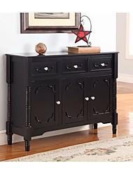 Недорогие -консольный стол из массива дерева с отделкой из черного дерева