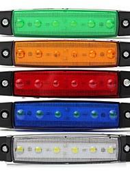 Недорогие -Sencart 4шт белый грузовик боковой габаритный фонарь овальный хром 6 led 24v