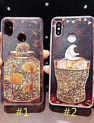 Недорогие -чехол для яблока iphone xs max / iphone 8 plus diy / pattern / течет жидкость задняя крышка блестящий блеск жесткий ПК / ТПУ для iphone 7 / iphone 6 plus / iphone 6s / iphone xs / iphone xr