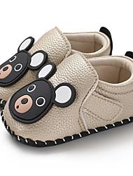 billige -Drenge / Pige PU Sneakers Spædbørn (0-9m) / Toddler (9m-4ys) Første gåsko Guld / Hvid / Sort Forår / Efterår