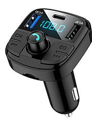 Недорогие -Muzili BT29 Bluetooth 5.0 автомобильный FM-передатчик QC3.0 USB зарядное устройство