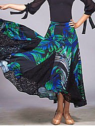 Недорогие -Бальные танцы Нижняя часть Жен. Учебный / Выступление Сетка / Ice Silk (искусственное волокно) Комбинация материалов Юбки