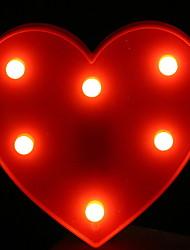 Недорогие -1шт светодиодный ночной светло-красный в форме сердца теплый белый а.<5 v