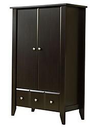 Недорогие -2-дверный шкаф для одежды, шкаф для одежды, шкаф из темно-коричневого дерева