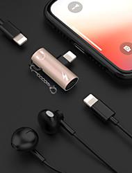 halpa -2 in 1 kuulokeliitäntävalaistus 3,5 mm äänisovittimen kaapeli iPhoneen