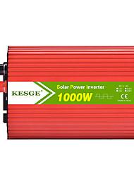 Недорогие -Kesge Ellipse 1000 Вт постоянного тока в переменный ток автомобильный инвертор DC12V / 24V-AC220V / 110V с 2 USB инвертор