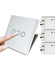 Недорогие -сенсорный переключатель беспроводной пульт дистанционного управления не нужно переключать проводной переключатель проводки бесплатно вставить интеллектуальный выключатель освещения дома переключатель