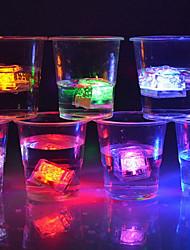 Недорогие -Светодиодные кубики льда светящиеся партия мяч вспышка света неоновый свадебный фестиваль рождественский бар бокал украшения поставки