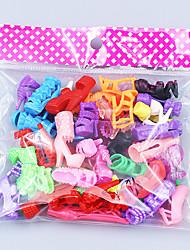 Недорогие -Кукла обувь 20 pcs Для Barbie Полиэстер Туфли Для Девичий игрушки куклы