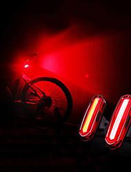 Недорогие -Светодиодная лампа Велосипедные фары LED подсветка Задняя подсветка на велосипед огни безопасности Горные велосипеды Велоспорт Водонепроницаемый Портативные USB Перезаряжаемая батарея 120 lm