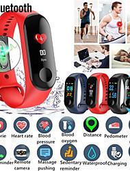 Недорогие -м3 смарт-браслет большой сенсорный экран oled сообщение время сердечного ритма фитнес-браслет smartband часы для android ios браслет часы