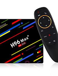 Недорогие -4G 64GB ТВ-бокс h96 Max + Android 8.1 Smart TV Box RK3328 Четырехъядерный 64-битный Cortex-A53 Penta-Core Мали-450 до 750 МГц + полный HD / H.265 / двойной Wi-Fi Smart приставка с пультом