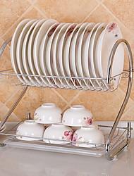 baratos -Alta qualidade com Aço Inoxidável Titulares de panelas Para utensílios de cozinha / Utensílios de Cozinha Inovadores Cozinha Armazenamento 2 pcs