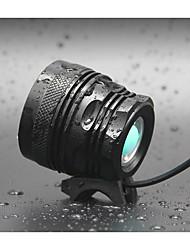 olcso -LED Kerékpár világítás Kerékpár első lámpa LED Kerékpározás Vízálló Hordozható Állítható Újratölthető elem 18650 8000 lm Akkumulátorok 110-240V 18650 Fehér Kempingezés / Túrázás / Barlangászat