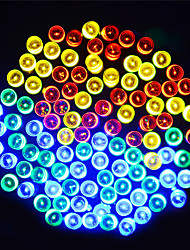 baratos -20m Cordões de Luzes 200 LEDs LED Dip Branco Quente / Azul / Roxa Solar / Festa / Decorativa 2 V 1conjunto
