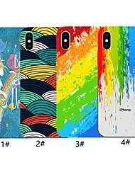 Недорогие -чехол для яблока iphone xr / iphone xs max винтажное искусство тушью картина задней линии / волны мягкое тпу для iphone x xs 8 8plus 7 7plus 6 6plus 6s 6s plus